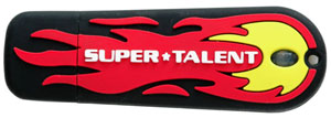 Super Talent Launches 1GB and 2GB  Fireball USB Drives