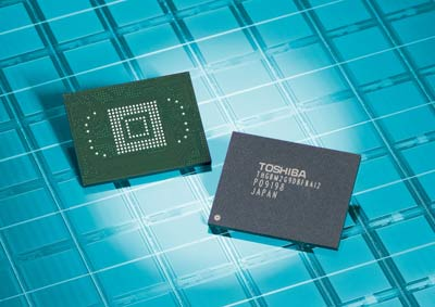 Toshiba Launches 64GB High Density NAND Flash Memory Modules