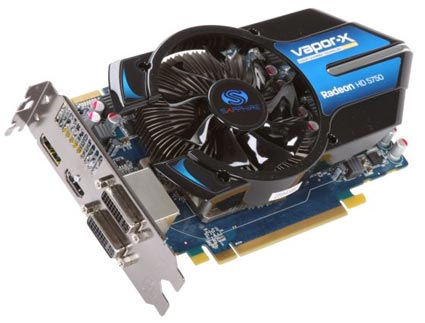 Sapphire Radeon HD 5750 Vapor-X Video Card