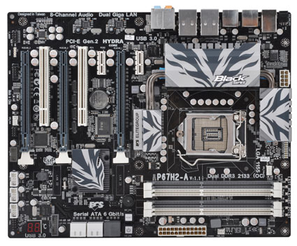 ECS Intel P67 and H67 Sandy Bridge Motherboards Pictured