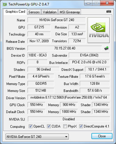 GPU-Z Video Card GPU Information Utility v0 4 7 Released