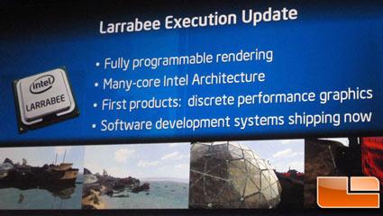 Intel Larrabee graphics architecture