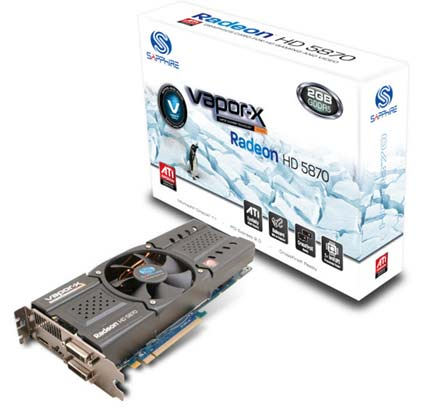 SAPPHIRE HD 5870 2GB Toxic Video Card