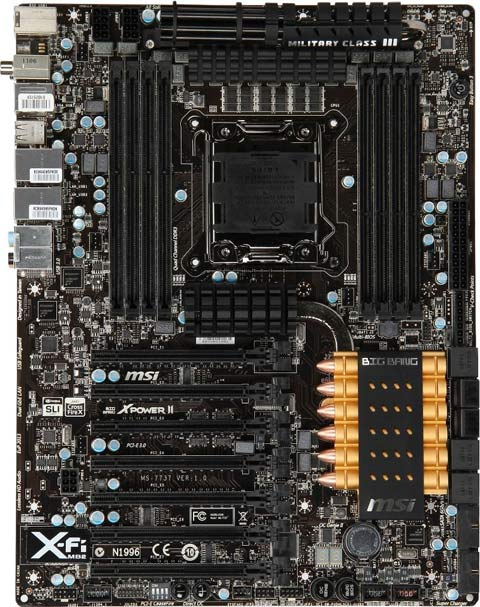 MSI Big Bang XPower 2 Intel X79 Motherboard Pictured