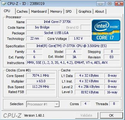 validated 7.07 GHz
