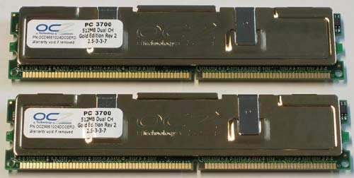 OCZ EL DDR PC-3700 Dual Channel Gold Rev. 2 Memory