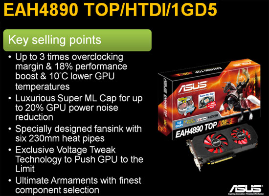 ASUS Radeon HD 4890 TOP Features
