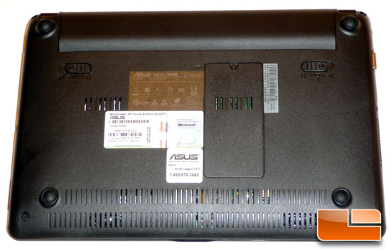 ASUS Eee PC 1005HA Seashell Bottom