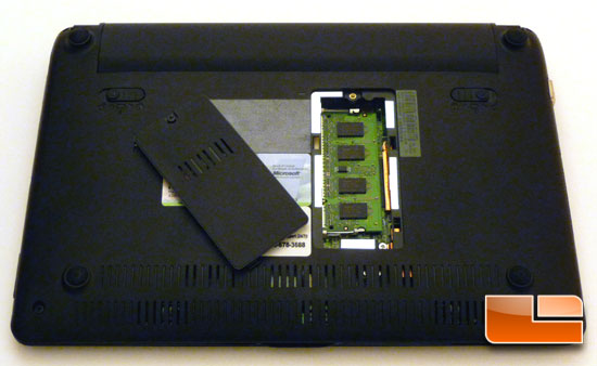 ASUS Eee PC 1005HA Seashell Open Bottom