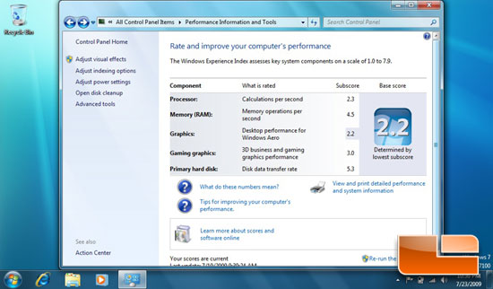 Windows 7 on 1005HA Netbook