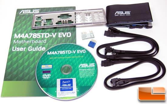ASUS M4A785TD-V EVO Motherboard Retail Bundle