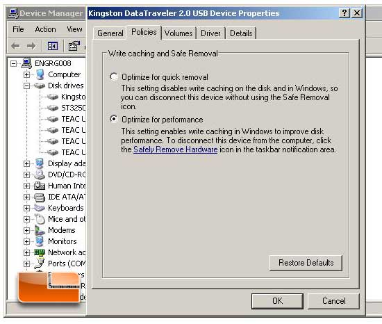 Install Windows 7 from a USB Key XP drive prep step 3