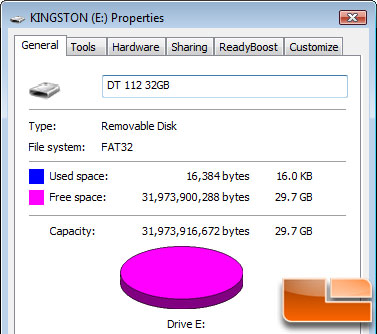 Kingston DataTraveler 112 32GB Capacity