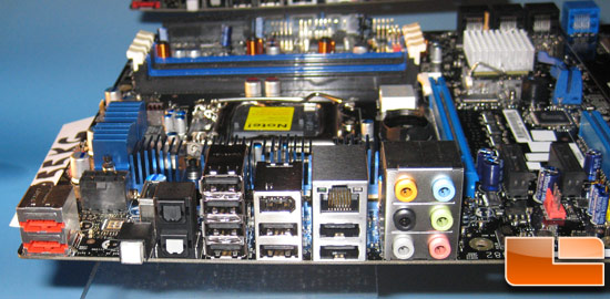 Intel DP55KG 'Kinsberg' motherboard I/O Panel