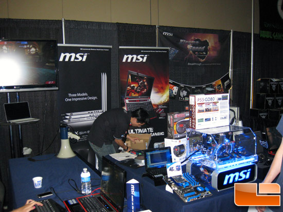 MSI Quakecon 2009 Booth