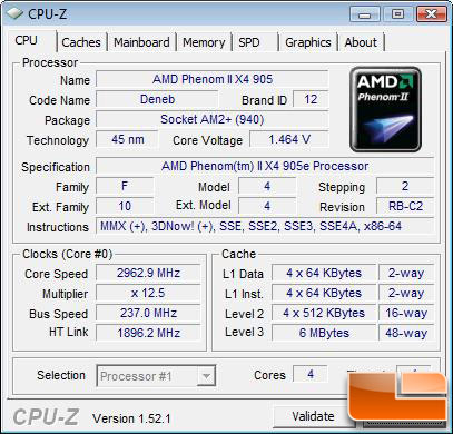 AMD Phenom II X4 905e Processor Stock 2.9Ghz