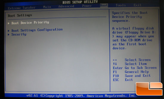 Asus Crosshair III Formula BIOS boot settings