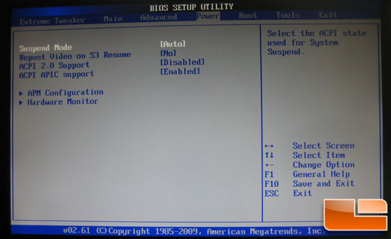 Asus Crosshair III Formula BIOS Power settings