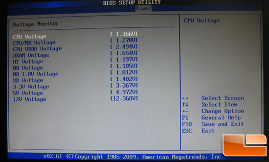 Asus Crosshair III Formula BIOS Voltage Monitor