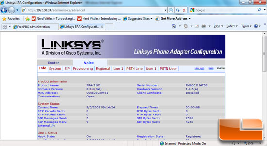 Linksys SPA-3102 Voice Tab