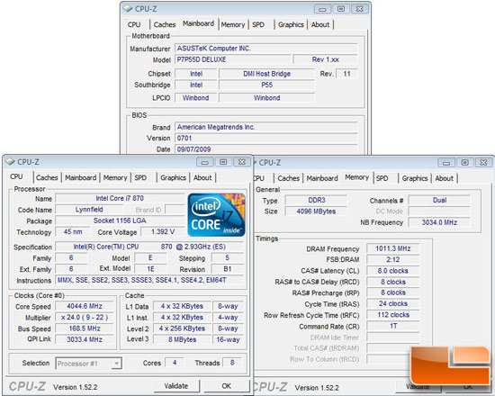 Intel Core i7 870 Retail CPU Overclocking