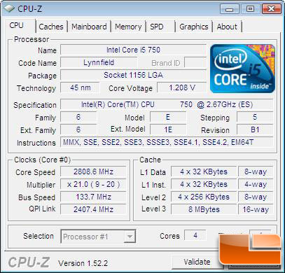 Intel Core i5-750 Lynnfield Processor