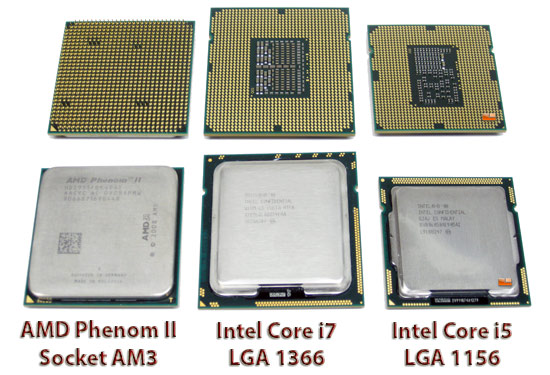 Intel and AMD Processors