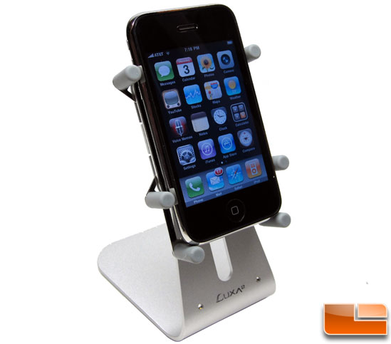 Luxa2 H1-Touch Apple iPhone 3GS Stand Vertical Side View