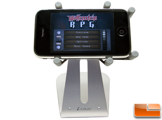 Luxa2 H1-Touch Apple iPhone 3GS Stand Horizontal View