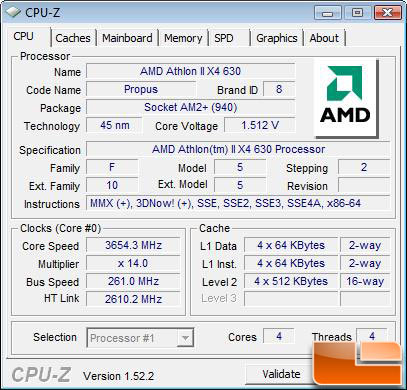 AMD Athlon II X4 630 Processor Stock 2.6GHz