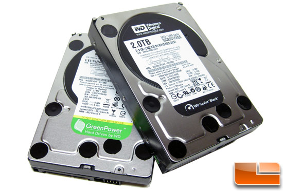 Western Digital Green Power and Caviar Black Hard Drive