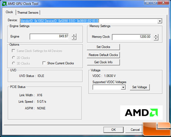 AMD Radeon HD 5870 Video Card Overclocking