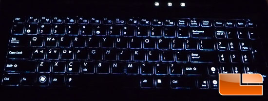 ASUS G51Vx Backlit Keyboard