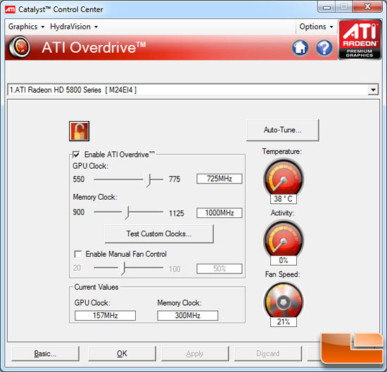 ATI Radeon HD 5850 Video Card Overclocking