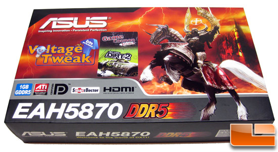 ASUS Radeon HD EAH 5870 Video Card Retail Box Front