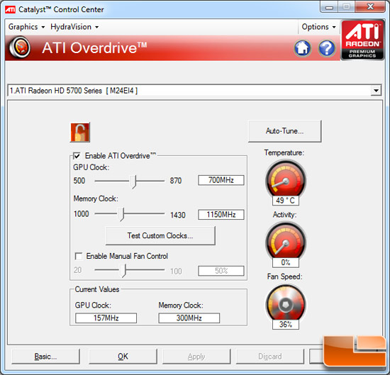 ATI Radeon HD 5870 OC Video Card Overclocking