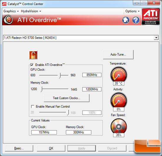 ATI Radeon HD 5870 Video Card Overclocking