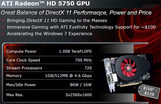 ATI Radeon HD 5700 Series Video Cards