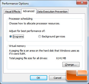 Windows 7 Pagefile Size with 6GB of Memory