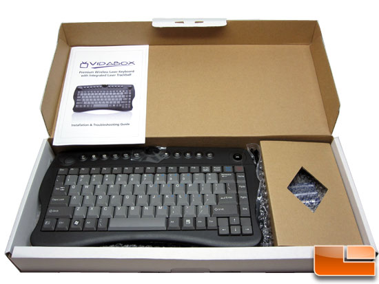 VidaBox ACC-KBLTB HTPC Wireless Keyboard Box