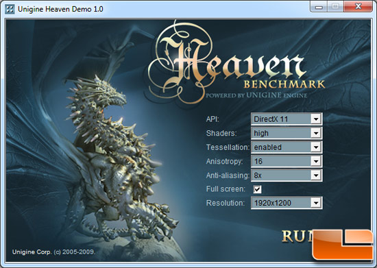 DirectX 11 benchmark Unigine engine