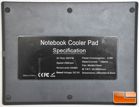 Laptop cooler bottom
