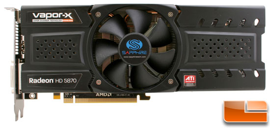 Sapphire Radeon HD 5870 Vapor-X Video Card Front