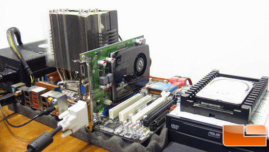 The EVGA GeForce GT 220 SSC DDR3 Test System