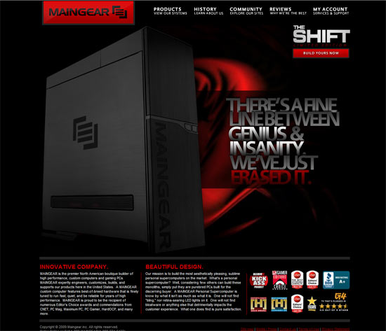 Maingear Website