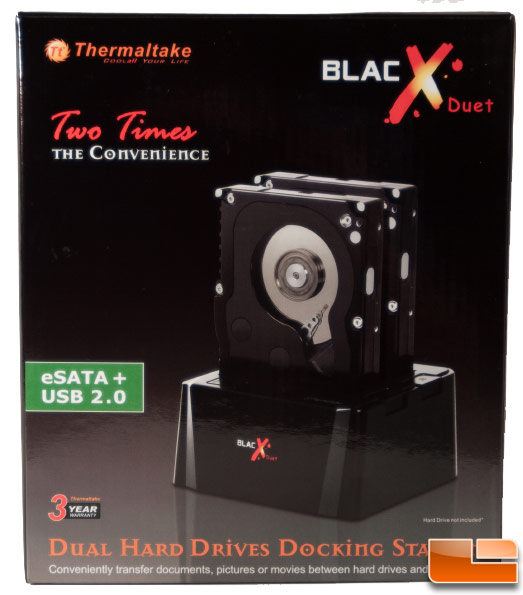 Thermaltake Blacx Duet Dock - Box Front