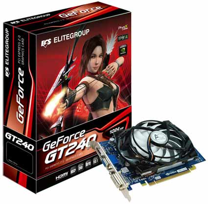 ECS GeForce GT 240 Reference Card