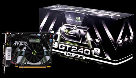 XFX GeForce GT 240 Reference Card