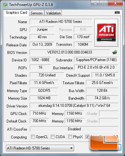 Sapphire Radeon HD 5750 Vapor-X Review