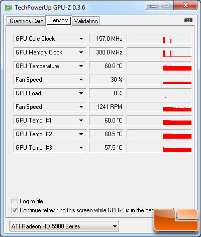 Radeon HD 5970 GPU-Z 0.3.6 Temperatures